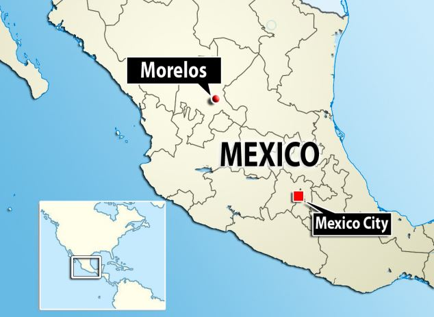 Killed: Child hitman Jorge Armando Moreno, 13, was found murdered in Morelos, central Mexico today