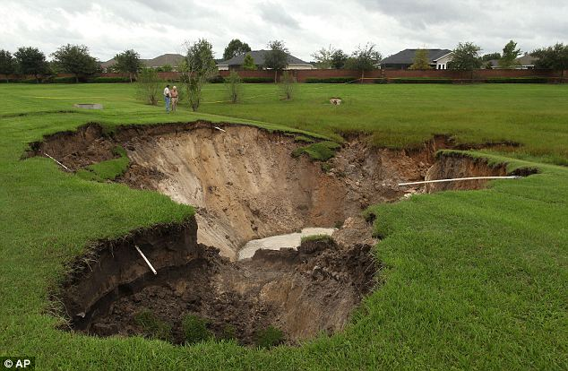 Key conditions: Florida is one of the most frequent sites of sink holes which is a reflection of the constant weather worries in the state- from tropical storms to hurricanes- and the soluble land underfoot