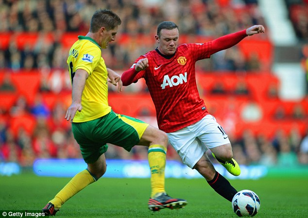 Big guns: Rooney (right) was deployed up top by Sir Alex Ferguson