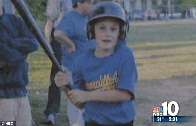 Youngster: Bailey, who lived in a suburb of Philadelphia, was a keen baseball player