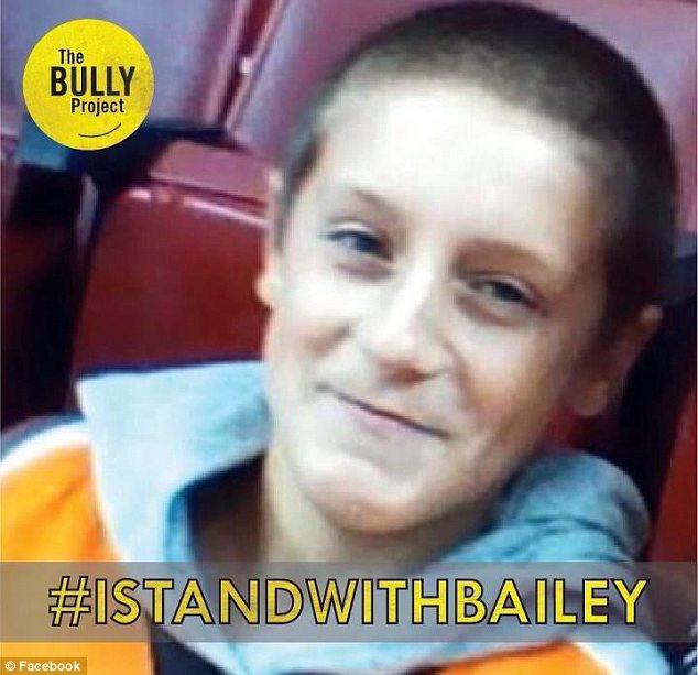 Inspiration: Web users have used Bailey's story as part of a new drive to crack down on bullying