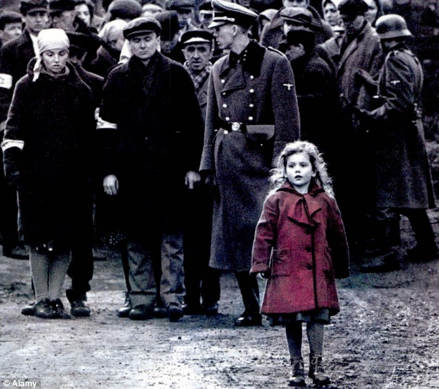 Image result for little girl in the red coat schindler list
