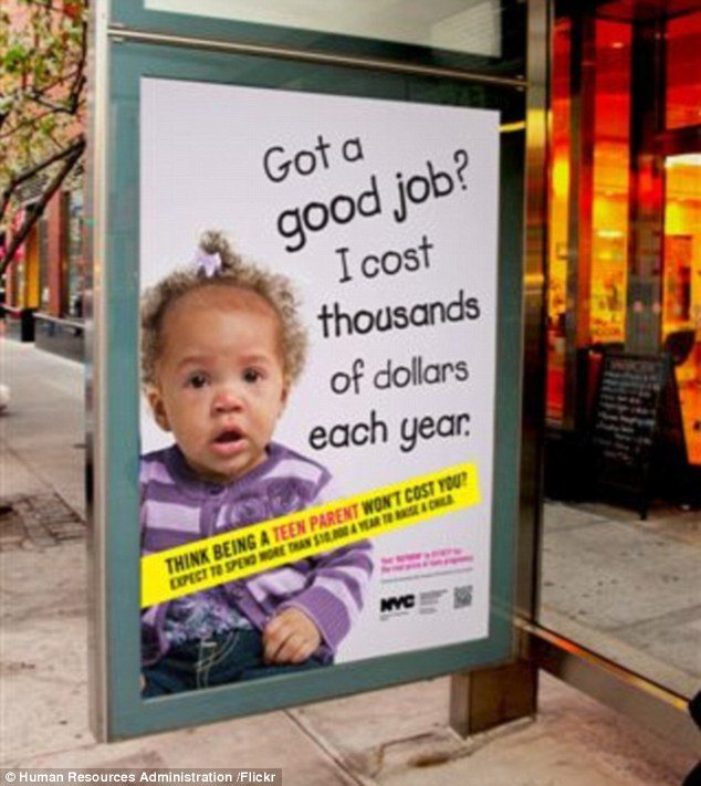 Controversial billboard campaign to reduce teen pregnancies (Image Courtesy of Chicago Daily Mail 5/16/13)