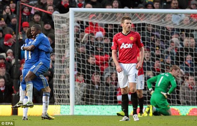 Fightback complete: Ramires celebrates with Oscar (left) after scoring equalizer