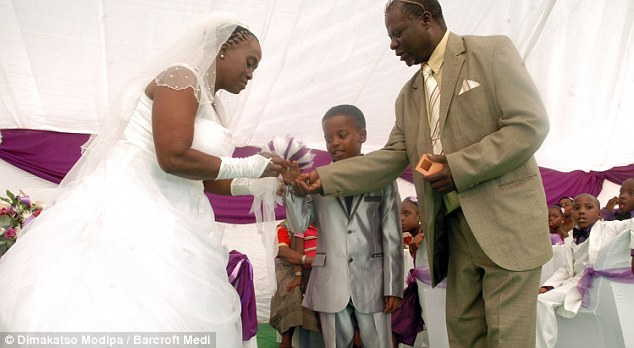 With this ring: The boy's family say the wedding was simply a ritual and not recognised in law