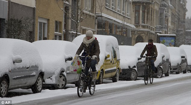 Commuters choose to go by bicycle in Antwerp, Belgium, rather than get caught in traffic