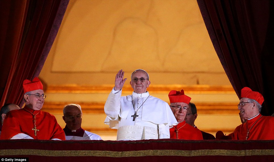 A first: The 76-year-old, unveiled as Jorge Mario Bergoglio, becomes both the first South American and Jesuit Pope v