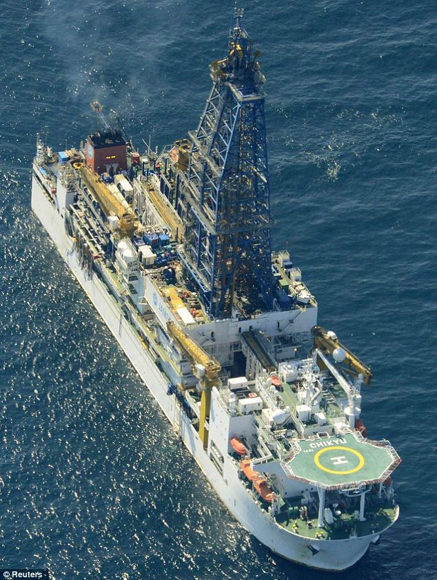 'The new shale gas': An aerial view shows deep-sea drilling vessel