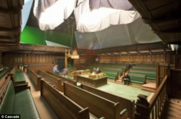 The 5,000 sq ft House of Commons set was created in 1986 for the Granada TV series First Among Equals