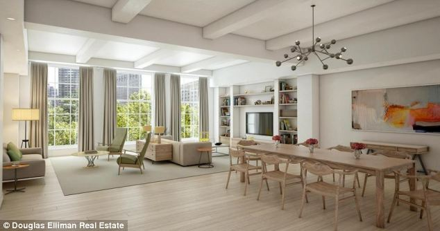 Luxury: Overlooking Madison Square Park the couple's new home is beautifully finished and boasts state-of-the-art appliances