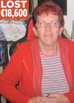 Furious: Shirley Brooks, 61, who is originally from Manchester, said she stands to lose ¿18,600 of her retirement money