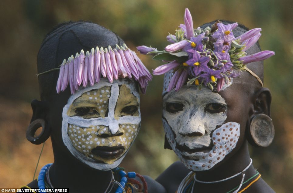 Two of a kind: Two children from one of the Omo tribes which populate the remote Omo Valley in Ethiopia
