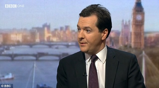 Warning: Chancellor George Osborne said today on BBC One's Andrew Marr Show that the situation in Cyprus was 'an example of what happens if you don't show the world that you can pay your way'