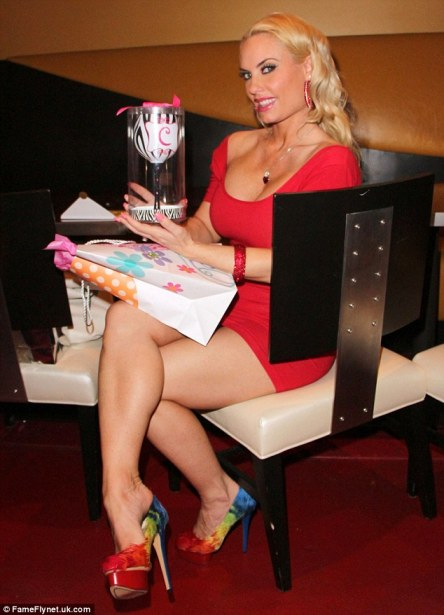 The chalice: Coco, real name Nicole Austin, was given a zebra print cup by her husband