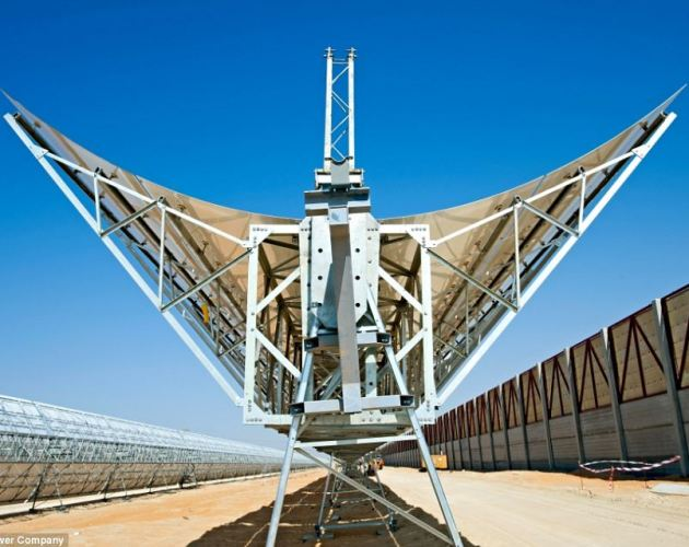 In addition, the solar project uses a booster to heat steam as it enters the turbine to dramatically increase the cycle's efficiency