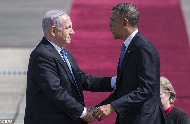 Serious shake: Obama sparred frequently with Netanyahu over the Palestinian peace process during his first term