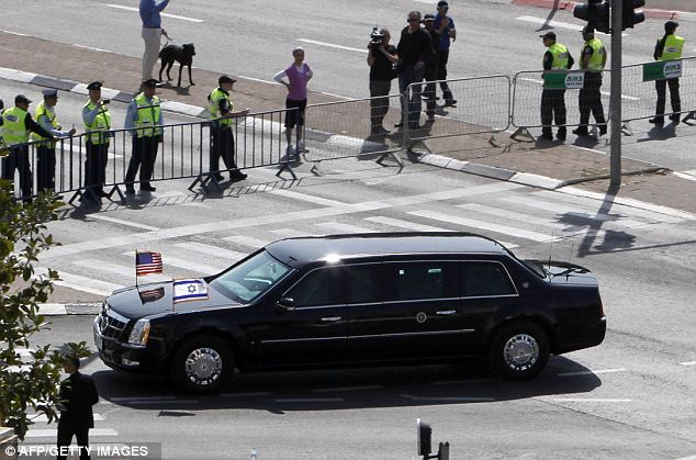 Problem: The important trip to Israel had its first hiccup before the President even arrived as his limo- dubbed 'The Beast'- broke down after the driver put gas in the tank instead of diesel