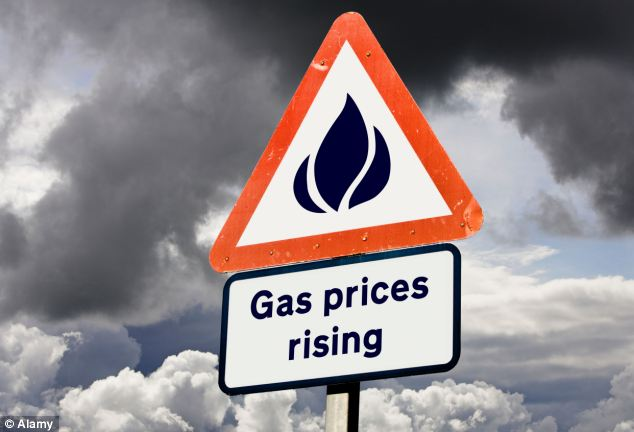 The shortfall is likely to push up the long-term price of gas and could result in household tariffs rising by up to 15 per cent before next winter