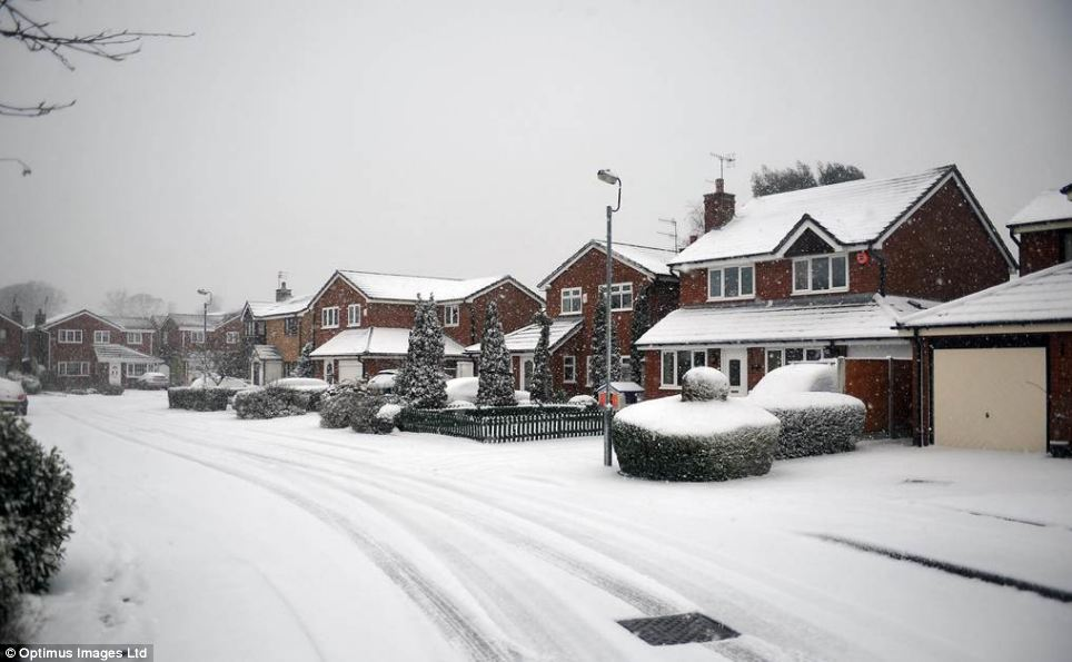 Image result for suburban street in snow