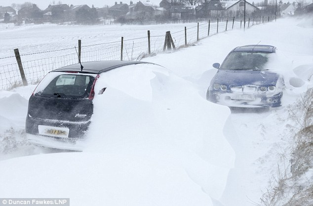 Blizzards: The Peak District was one of the worst affected areas as blizzards swept the UK overnight