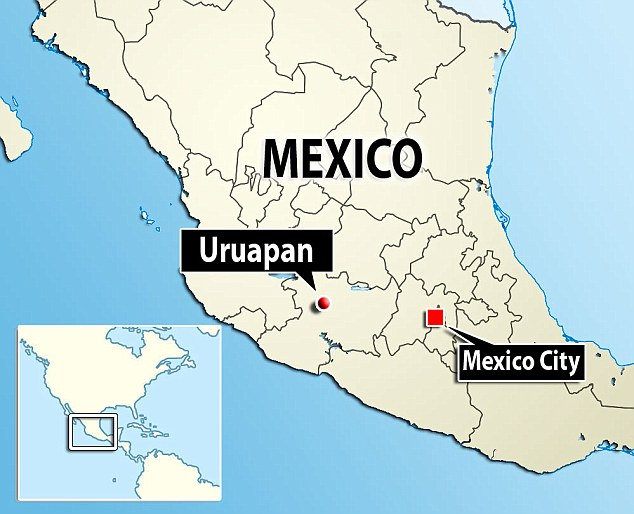 uruapan michoacan mexico map Horror In Mexico As Seven Men Are Executed And Dumped On Chairs In
