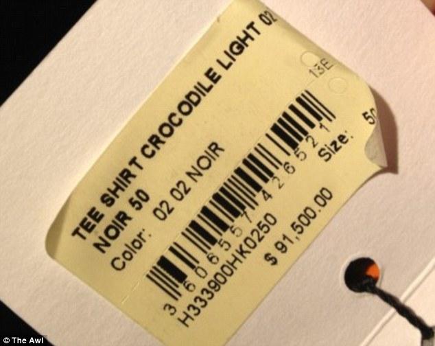 $91,500.00 for an Hermes Croc Shirt