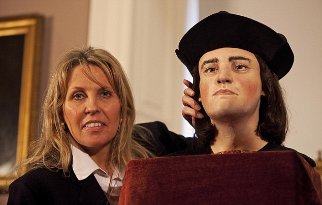 Reconstruction: The world's only facial reconstruction of Richard III unveiled 528 years after his death by Philippa Langley, originator of the 'Looking for Richard' project