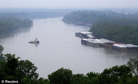 Polluted: Rivers such as the Mississippi are now largely lifeless thanks to farming