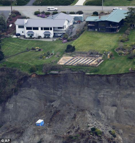 Landslide damage