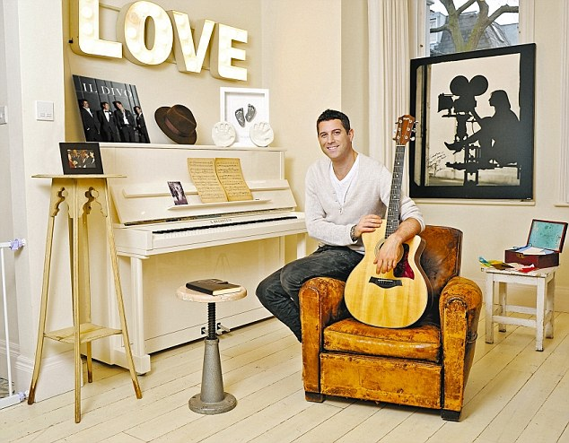 Sebastien Izambard in the living room of his west London home