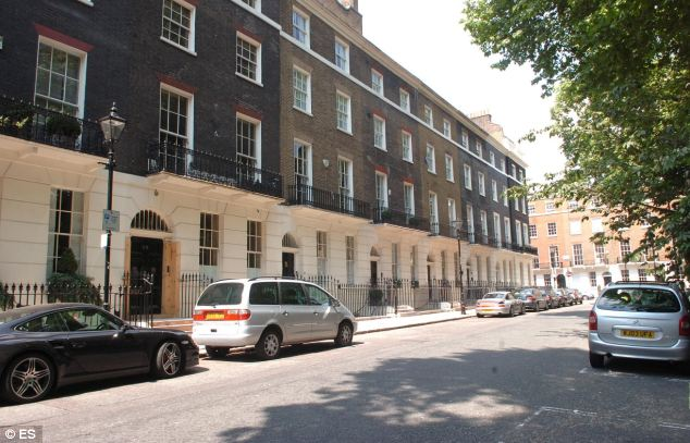 The flat al-Rahimi is alleged to have subletted is close to Tony Blair's home in Connaught Square (pictured)