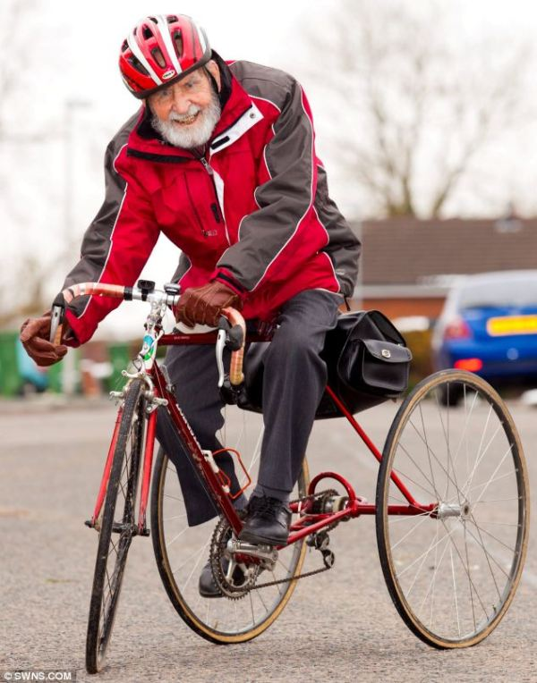 Cycling champ still clocking up five miles a week on his ...