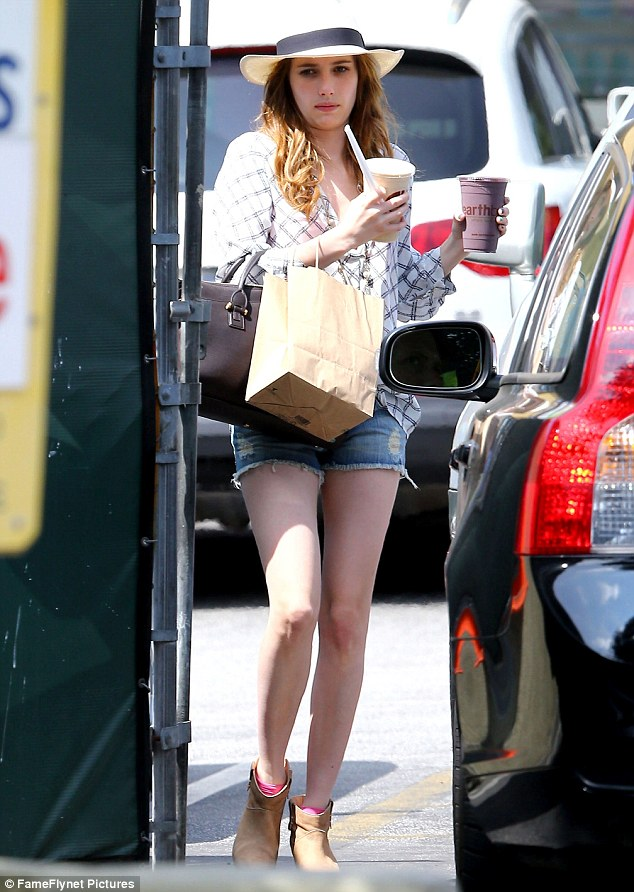 The Short And Short Of It Emma Roberts Dashes Out In Some