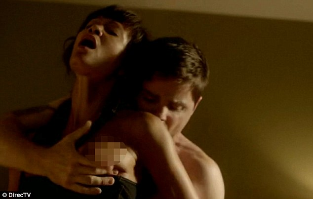 Revamping her image: Thandie Newton is seen in a very raunchy sex scene as part of her new TV show Rogue
