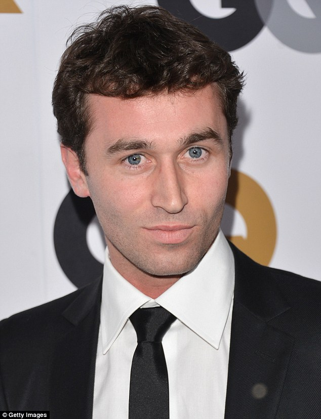 The man in question: Porn star James Deen said the video was a 'setup', pictured at the Chateau Marmont in Los Angeles, in November