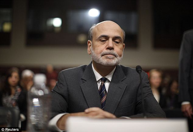 Loss of faith: Conservative politicians are concerned about the economic policies put into place by Ben Bernanke during his time as the chairman of the federal reserve