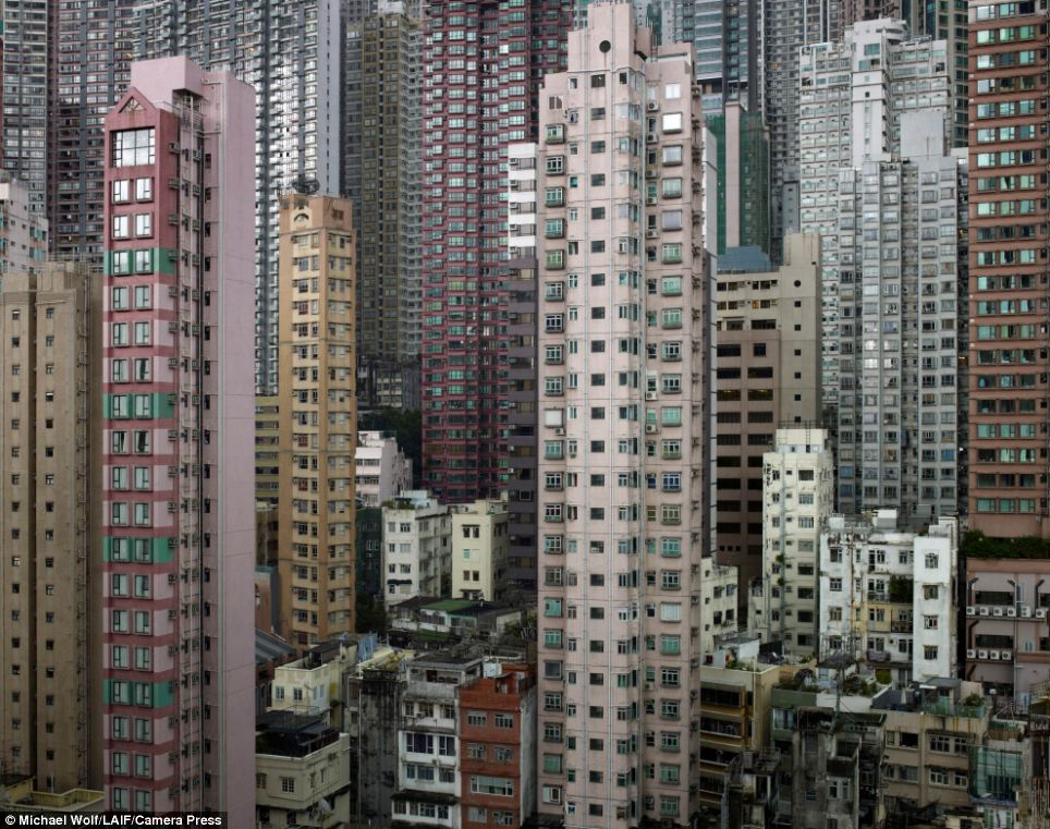 Inspiration: German photographer Michael Wolf documents the extreme nature of Hong Kong's urban developments in his series Architecture of Density