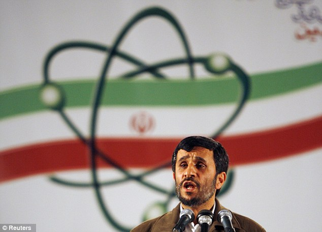 Fates of the state: Inventor Ali Razeghi claims his device can be used by warmongering Iranian president Mahmoud Ahmadinejad (above) to predict military conflicts and future values of currencies and oil