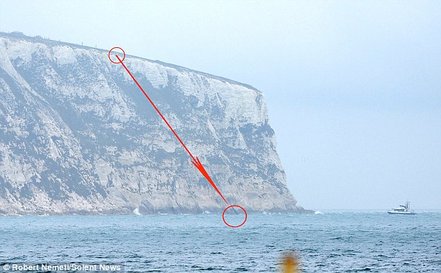 Culver Cliff near Sandown, Isle Of Wight pictured here, where the incident happened