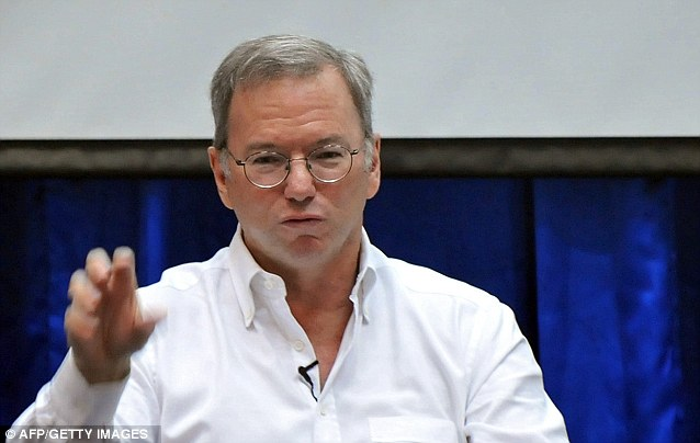 Anti-drone: Google boss Eric Schmidt has warned about the spread of drone technology