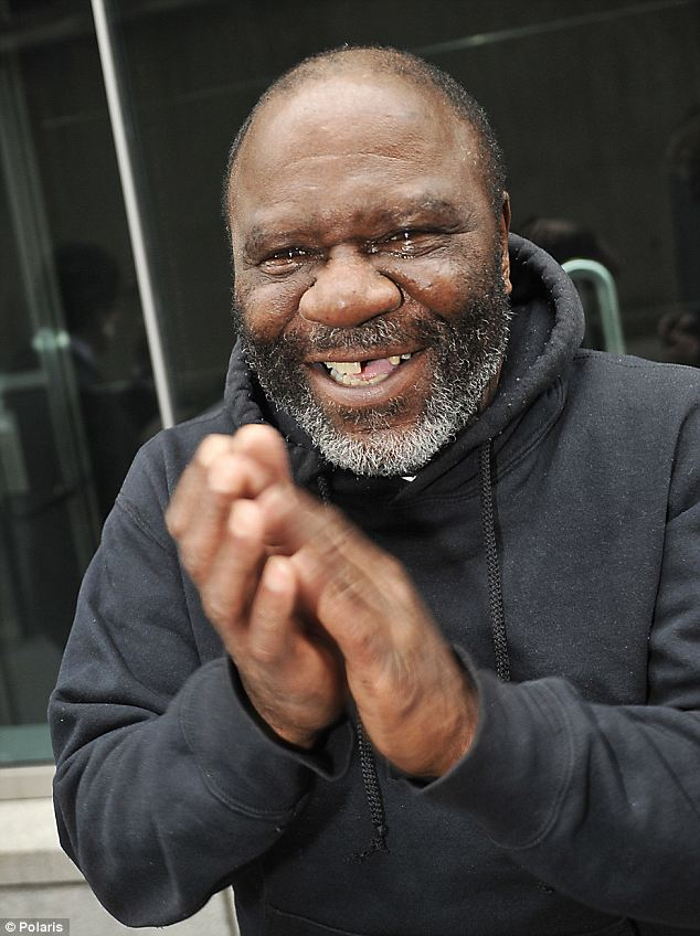 Free at last: David Bryant cries tears of joy after being released from prison