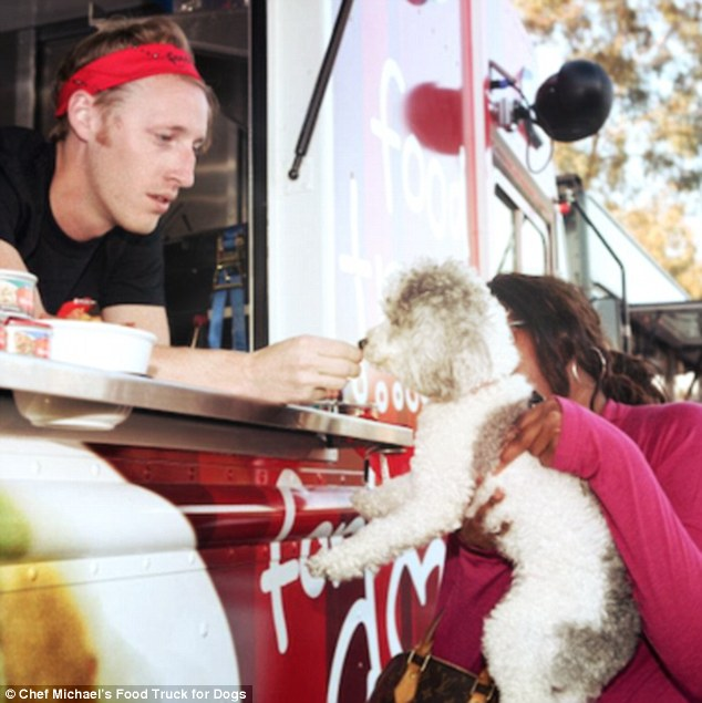 A new food truck allows dogs to snack on tasty artisanal treats created by a top chef