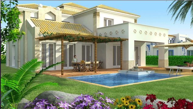 The dream: An artist's impression of one of the luxury villas that the athletes invested in