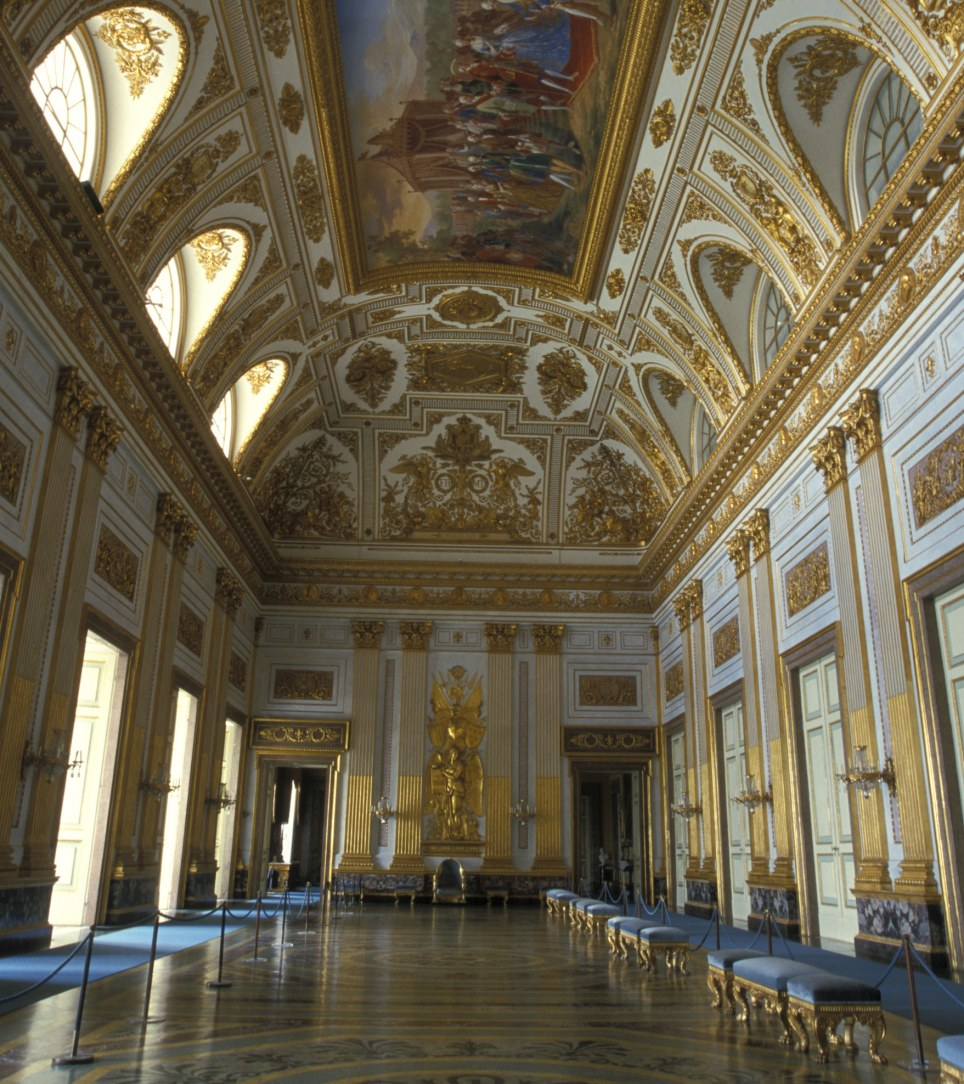 Royal protection: Reggia di Caserta, is falling to ruins as a result of lack of funds and years of vandalism and looting, and the government is now being urged to send the Italian army to protect it
