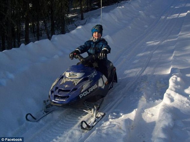 Crushed: Shjon, pictured, was found under six to eight feet of snow and his snowmobile