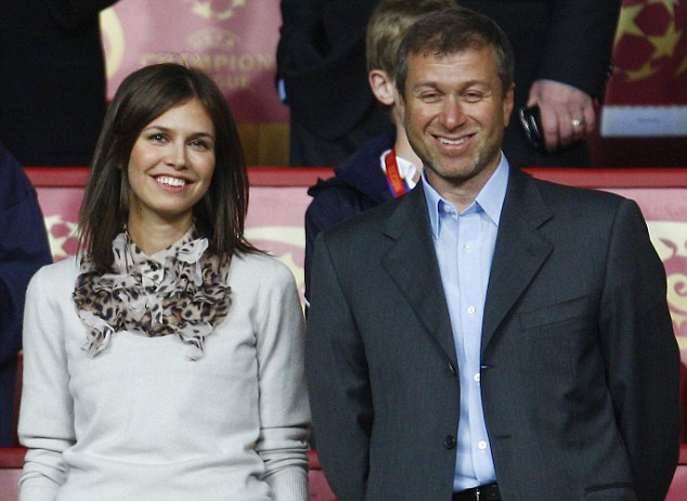 Chelsea owner Roman Abramovich with his girlfriend Daria Zhukova, who gave birth to their second child on Monday