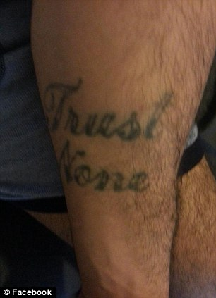 Tattoo: Rodriguez has a tattoo that reads 'Trust None' on his arm