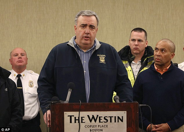 Briefing: Boston Police Commissioner Edward Davis speaks about the explosions at a press conference