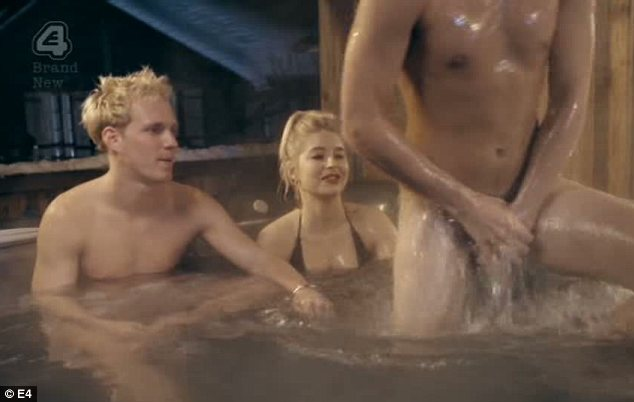 Naked hot tub: The pint-sized lothario had asked Andy Jordan to leave him and Phoebe alone in the hot tube while on a ski trip in Verbier