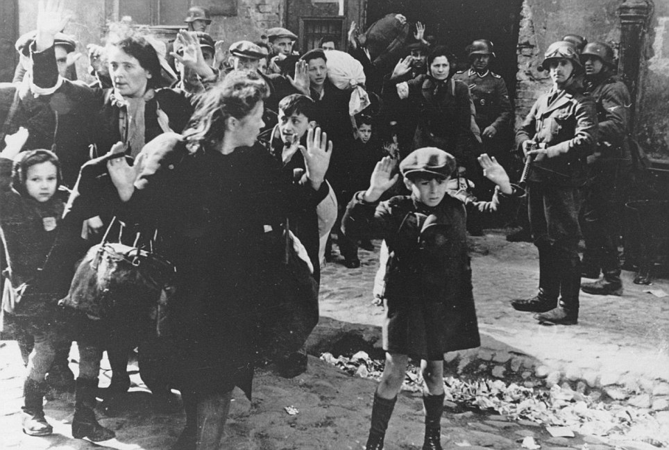 Worrying findings: The poll was commissioned by the city's Jewish leaders to mark this Friday's 70th anniversary of the Warsaw Uprising